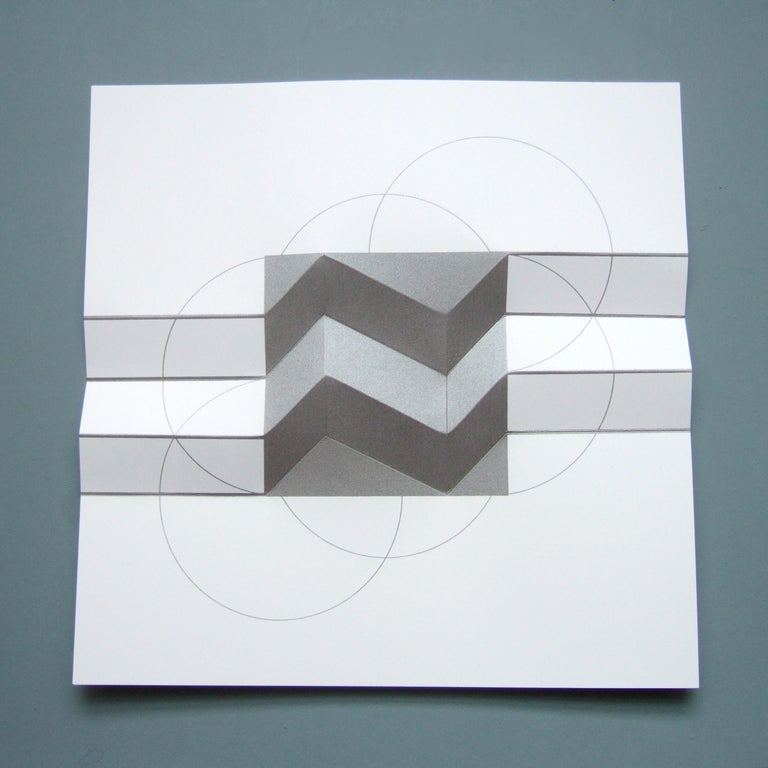 Brigitte Parusel, Spatial Hybrid 3, 2018, Folded Screenprint, Minimalism For Sale 3