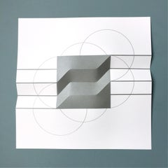 Brigitte Parusel, Spatial Hybrid 3, 2018, Folded Screenprint, Minimalism