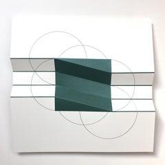 Brigitte Parusel, Spatial Hybrid_Concave 1, 2018, FoldedScreenprint, Minimalism