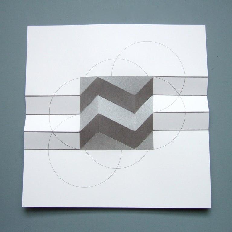 Brigitte Parusel, Spatial Hybrid_Concave 2, 2018, Folded Screenprint, Minimalism For Sale 3