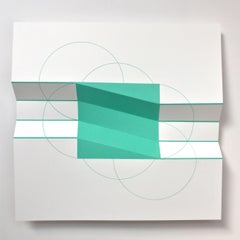 Brigitte Parusel, Spatial Hybrid_Concave 2, 2018, Folded Screenprint, Minimalism