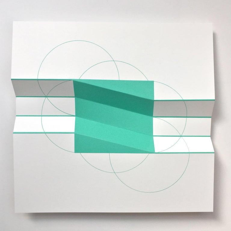 Brigitte Parusel, Spatial Hybrid_Concave 2, 2018, Folded Screenprint, Minimalism - Print by Brigitte Parusel