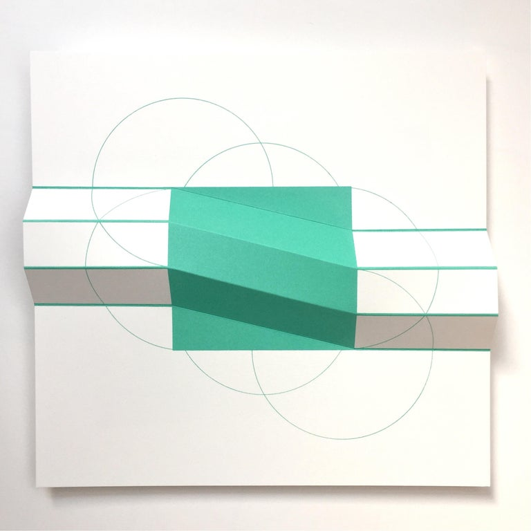 'Brigitte Parusel's screen prints, drawings and sculptures are part of an ongoing exploration of a geometric pattern of interconnected circles. Her works might appear carefully planned, but they emerge from repeatedly testing and experimenting with