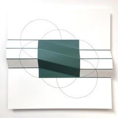 Brigitte Parusel, Spatial Hybrid_Convex 1, 2018, Folded Screenprint, Minimalism