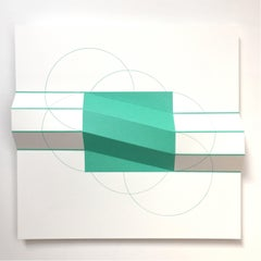 Brigitte Parusel, Spatial Hybrid_Convex 12, 2018, Folded Screenprint, Minimalism
