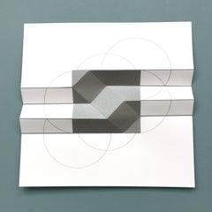 Brigitte Parusel,Spatial Hybrid 4, 2018, Folded Screenprint, Minimalism