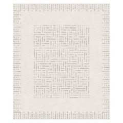 Brillante - Beige Geometric Hand-Knotted Wool Blend-silk Rug