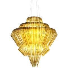 Brilli A Chandelier in Gold Resin by Jacopo Foggini
