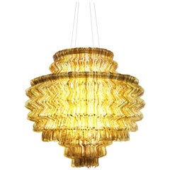 Brilli C Chandelier in Gold Resin by Jacopo Foggini