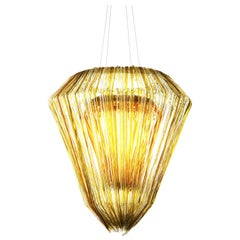 Brilli E Chandelier in Gold Resin by Jacopo Foggini
