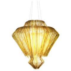 Brilli F Chandelier in Gold Resin by Jacopo Foggini