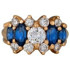 Brilliant, 3.5 Carat Ladies Sapphire and Diamond Jeweled Ring
