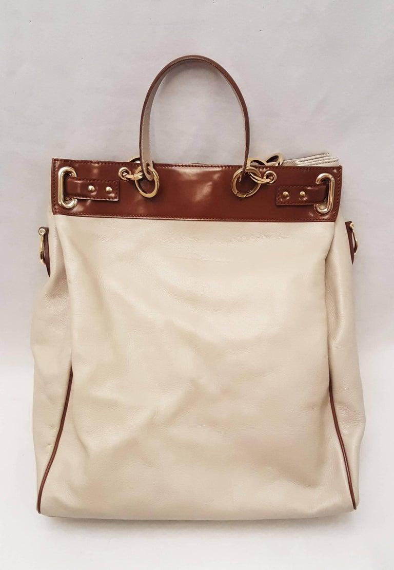 0ad7629a4b57 Balenciaga Beige and Brown Shoulder Bag