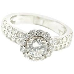 Brilliant Diamond Ring in 18 Karat White Gold