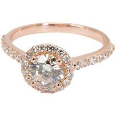 Brilliant Earth Halo Diamond Engagement Ring in 14 Karat Rose Gold