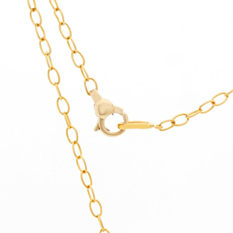 Women's Brilliant Opal and Diamond Yellow Gold Pendant and Necklace For Sale