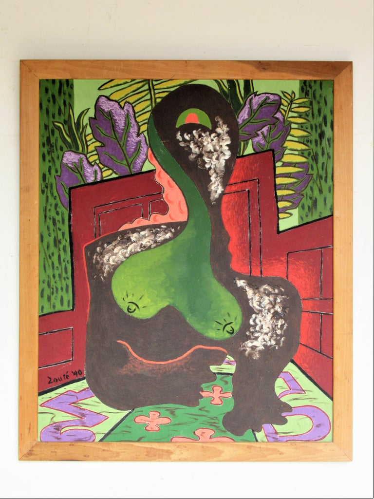 Brilliant  Expressionist Painting, Nude Woman by Zoute, 1940 For Sale 1
