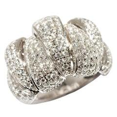 Brilliant Ring in 18 Karat White Gold, 2.44 Carat