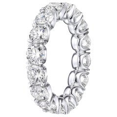 Brilliant Round 4.45 Carat Diamond Wedding Eternity Band Set in Platinum