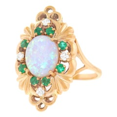 Brilliantly British Opal Set Gold Ring