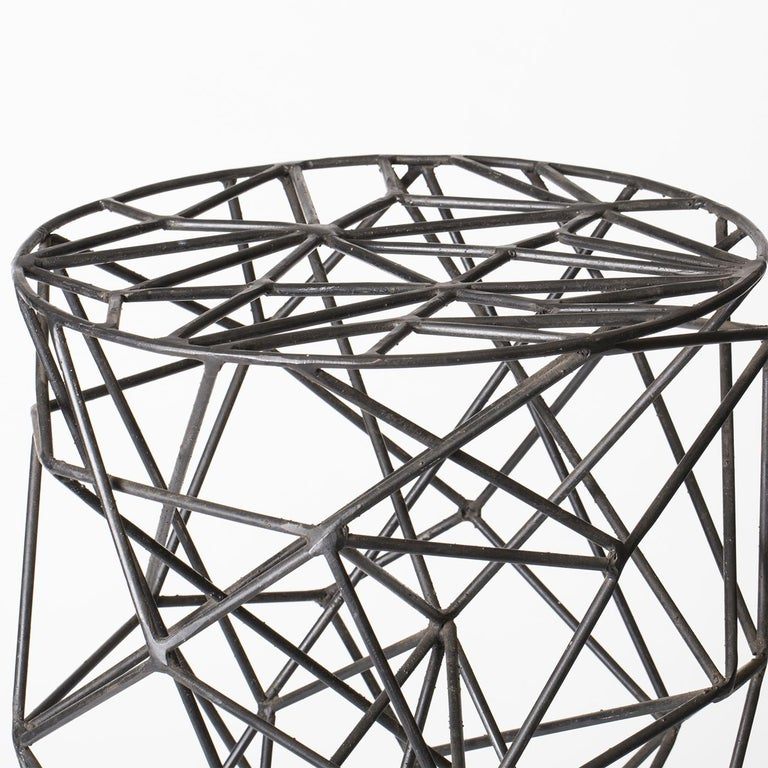 Modern Brillo Iron Bar Stool For Sale