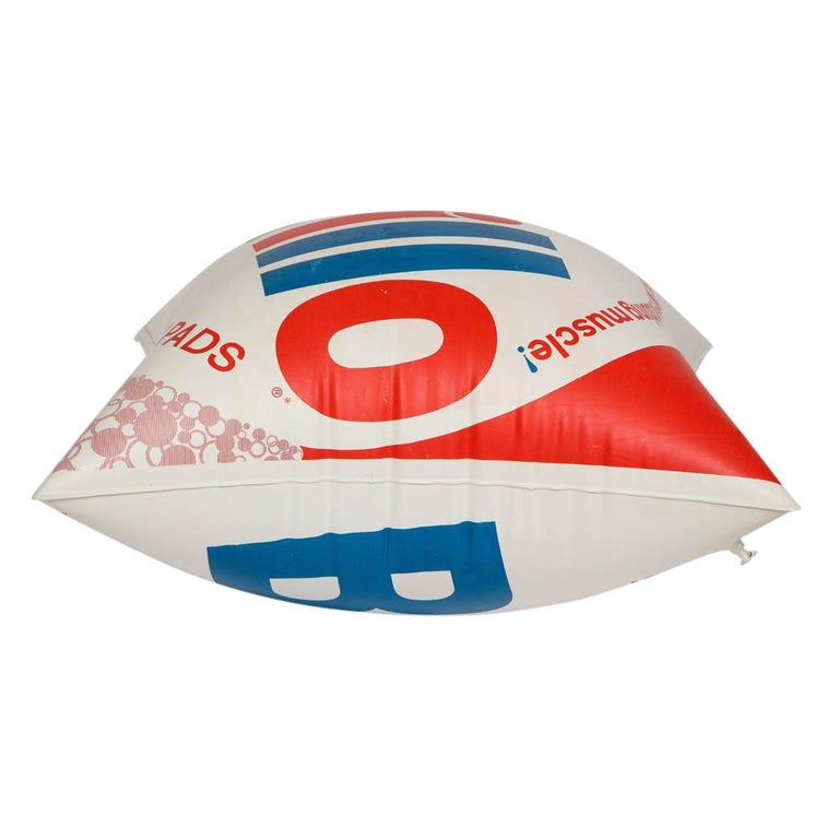 Brillo Pillow, Pop Art, Red, White and Blue, Inflatable, Signed For Sale 1