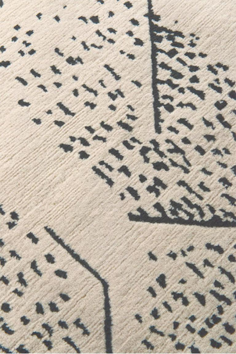 For Sale: Beige (Ivory) Brink Rug in Hand Knotted Wool and Silk by Kelly Wearstler 2
