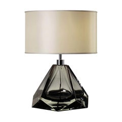 Briolette Low Gray Table Lamp