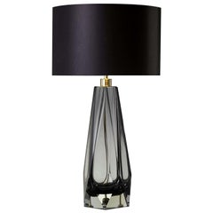 Briolette Tall Gray Table Lamp