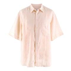 Brioni Beige Linen Shirt 44 (IT)