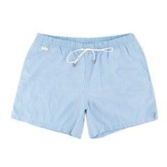 Brioni Blue Patterned Swim Shorts XXL