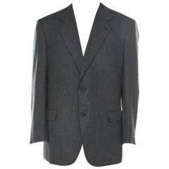 Brioni Grey Cashmere Regular Fit Classic Tailored Blazer 4XL