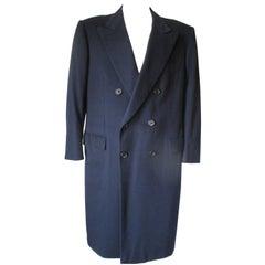 Brioni Men's Cashmere Blue Overcoat