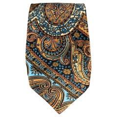 BRIONI Multi-Color Silk Paisley Handmade Tie