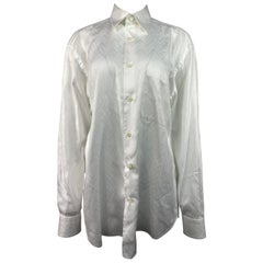 Brioni Neiman Marcus White Cotton Button Down Shirt
