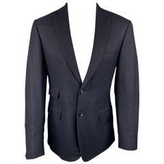 BRIONI Size 38 Navy Cashmere Notch Lapel Custom Sport Coat