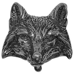 "Brisbane ""1995"" Silver Plated ""Fox"" Belt Buckle"