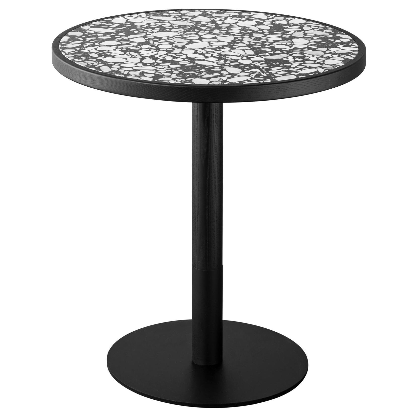Briscola Table with Palladio Moro Marble Top & Ash Base by Miniforms Lab