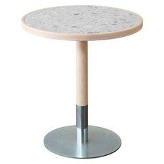Briscola Table with Statuario White Ceramic Top & Black Ash Base, Miniforms Lab