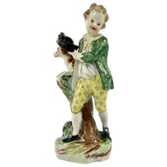 Bristol Porcelain Figure of a Boy, circa 1775
