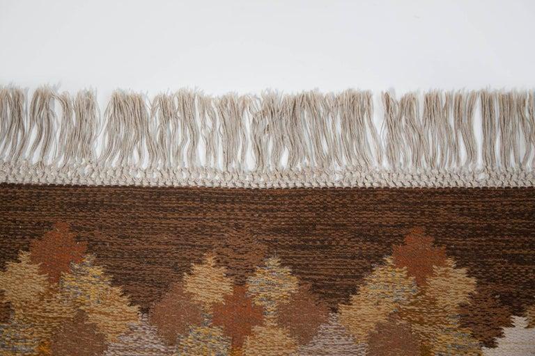 Brita Svefors Brown and Tan Flat-Weave Rug