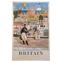 Britain Land of History Regency Brighton 1961 Travel Poster
