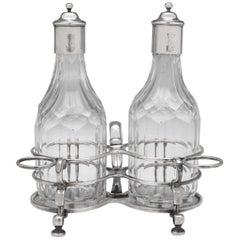 Britannia Standard Silver Oil And Vinegar Set