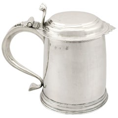 Britannia Standard Silver Quart and a Half Tankard, Antique William III