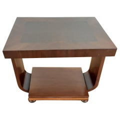 British Art Deco Table in a Burr Walnut