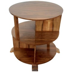 British Art Deco Walnut Bookcase Table