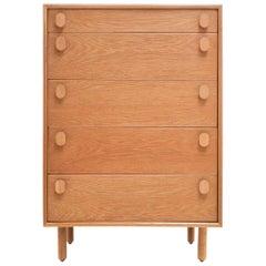 British Blonde Oak Midcentury Chest of Drawers by Meredew