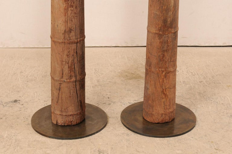 British Colonial 19th Century Carved Wood Columns For Sale 6