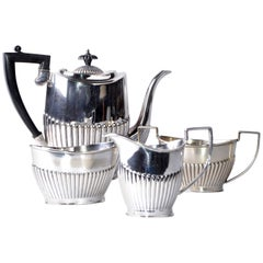 British Colonial Antique 1910 Cheltenham Silver Coffee Service Sheffield England