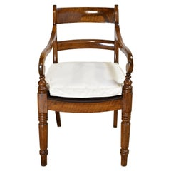 British Colonial Armchair in Walnut, circa 1825